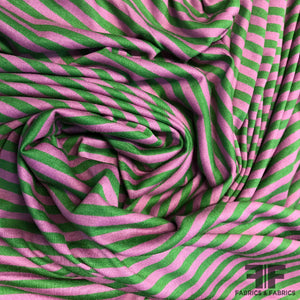 Striped Knit - Green/Purple