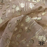 Metallic Silk Chiffon - Beige/Metallic