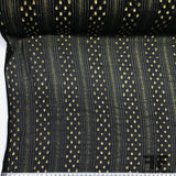 Metallic Silk Chiffon - Black/Metallic - Fabrics & Fabrics