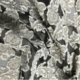 Floral Organza Burnout Novelty - Beige/Black
