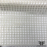 Light-Weight Houndstooth Jacquard - Ivory/Cream