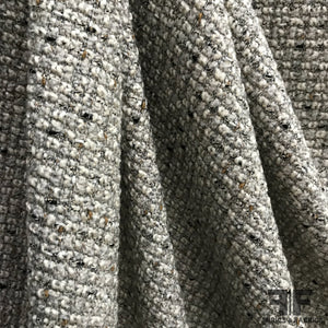Wool Tweed with Metallic Accent - Beige