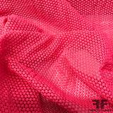 Speckled Dot Guipure Lace - Hot Pink