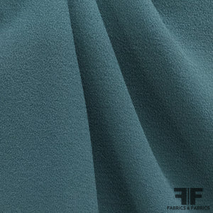 Italian Double-Faced Wool Crepe - Deep Teal