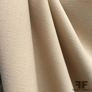 Italian Double-Faced Wool Crepe - Beige