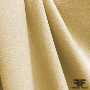Double-Faced Wool Crepe - Butter Yellow