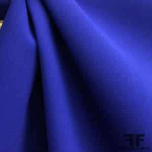 Italian Bonded Wool Crepe - Royal Blue