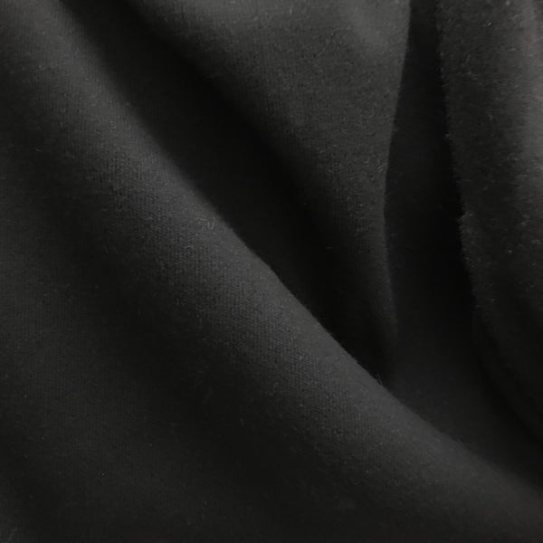 Solid Wool Knit - Black - Fabrics & Fabrics
