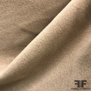 Solid Wool Coating - Camel