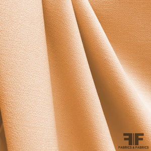 Italian Double-Faced Wool Crepe - Pale Orange - Fabrics & Fabrics