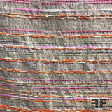 Striped Brocade/Tweed - Metallic - Orange/Pink (WIDE) - Fabrics & Fabrics