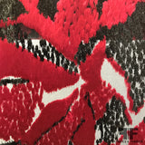 French Abstract Burnout Velvet - Red/Black - Fabrics & Fabrics