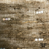 Novelty Loose Woven Beaded Burlap - Brown