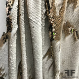 Two Way Sequins on Jersey - Gold/White
