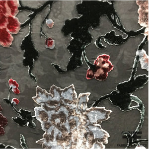 Italian Floral Burnout Velvet - Multicolor