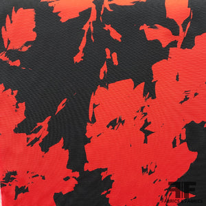 Italian Abstract Textured Brocade - Black/Red