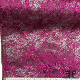 Shimmery Metallic Brocade - Pink/Silver