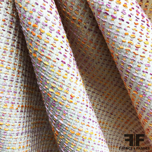 Italian Tweed Brocade - Orange/Purple