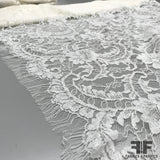 French Floral/Swirl Chantilly Lace - Ivory - Fabrics & Fabrics