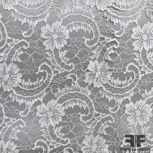 French Floral/Swirl Chantilly Lace - Ivory
