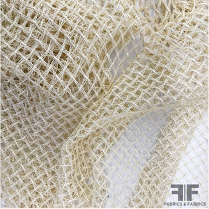 Italian Netting Lattice Guipure Lace - Cream/Beige - Fabrics & Fabrics