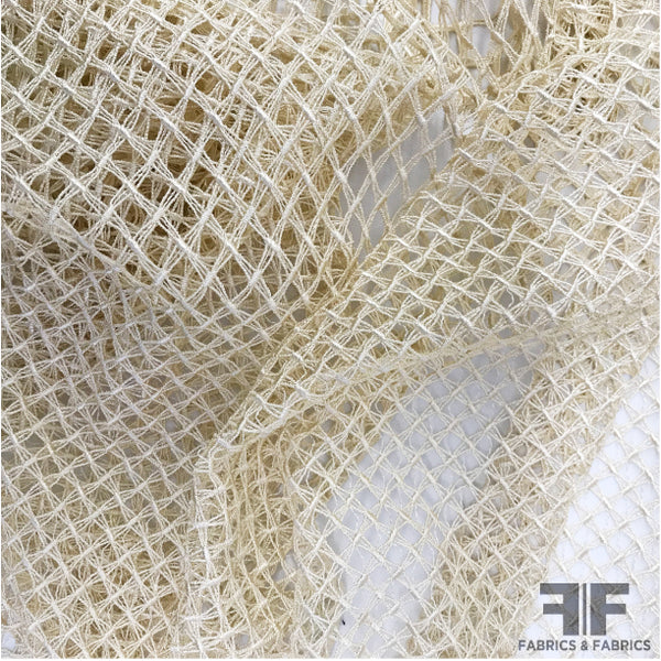 Lattice Guipure Lace - Ivory - Fabrics & Fabrics