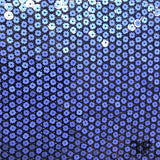 Italian Flower Sequins on Stretch Mesh - Blue - Fabrics & Fabrics