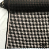 Houndstooth Silk Embroidered Netting - Black/Brown - Fabrics & Fabrics