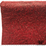 Italian Novelty Fringe on Taffeta - Red - Fabrics & Fabrics