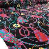 Abstract Printed Crepe De Chine - Black/Multicolor