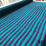 Abstract Striped Crepe De Chine - Blue/Purple - Fabrics & Fabrics NY