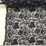 Couture Chantilly Beaded Lace - Navy