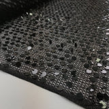 Open Weave Novelty & Sequins - Deep Purple/Grey - Fabrics & Fabrics