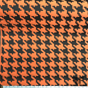 Houndstooth Brocade - Orange/Black