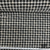 Houndstooth Tweed - Black/ Pale Purple/ Ivory - Fabrics & Fabrics