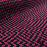 Wool Houndstooth Coating - Purple/Black - Fabrics & Fabrics
