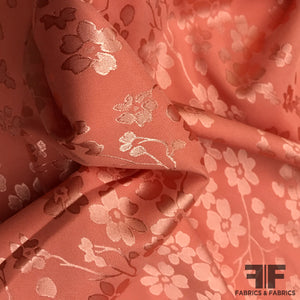 Soft Floral Brocade - Peach