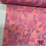 Floral Brocade - Orange/Purple/Pink - Fabrics & Fabrics NY