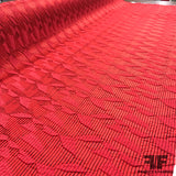 Textured Striped Brocade - Red - Fabrics & Fabrics
