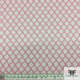 Summer Chic Geometric Brocade - Pink/White