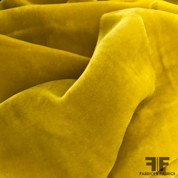 Silk Velvet - Bright Yellow - Fabrics & Fabrics