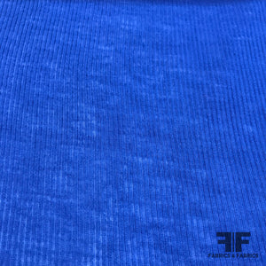 Lightweight Ribbed Knit - Royal Blue - Fabrics & Fabrics