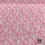 Floral Stretch Lace - Baby Pink - Fabrics & Fabrics
