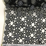 Novelty Abstract Guipure Lace - Black/White - Fabrics & Fabrics