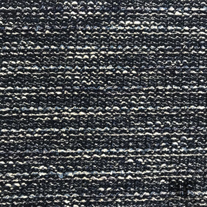 Textured Two-Toned Knit - Navy/White - Fabrics & Fabrics
