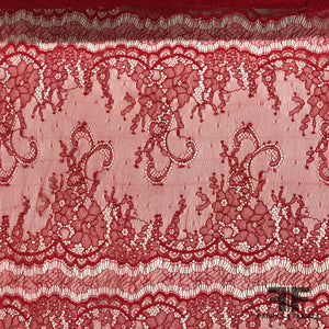 Stretch Eyelash Lace - Red - Fabrics & Fabrics