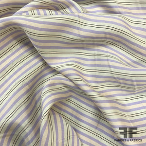 The Row Striped Crepe de Chine - Pale Pink/Purple
