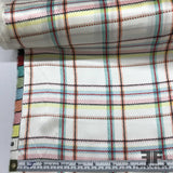 Plaid Printed Silk Charmeuse - Multicolor Pastels - Fabrics & Fabrics
