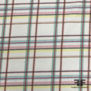 Plaid Printed Mesh/Netting - Multicolor Pastels - Fabrics & Fabrics