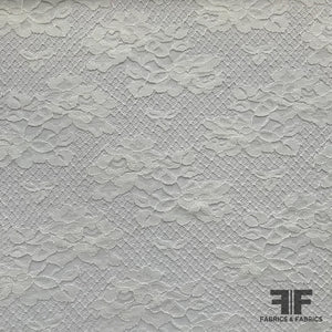 French Classic Floral Lace - White - Fabrics & Fabrics
